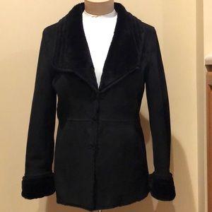 WHITE HOUSE BLACK MARKET Faux Suede JACKET Coat